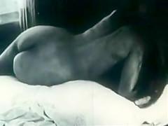 Naked Retro Brunette