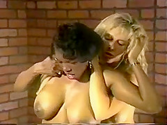 Busty Cellmates Tussle