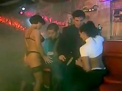 Karli Sweet foursome in bar