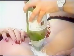 Vintage Messy Bottle Insertion