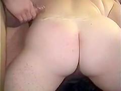Older vid Doggie Cum on her Fat Ass!
