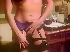 SH Retro Lady In Black Lingeria DP Interracial