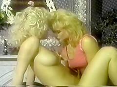 Amber Lynn And Nina Hartley W - Pink TV 2 Lesbian Scene