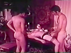 Mixed Threesome - Girl Gets fucked by White and Black guy