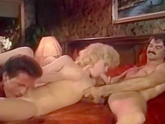 John Holmes: Battle Of Superstars (1980's) Threesome scene