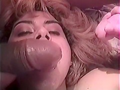Cute brunette with great tits gets gang banged by a group of guys
