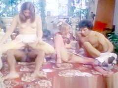 Classic big black cock anal orgy