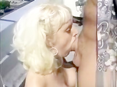 Blonde gets her pussy pounded on rooftop