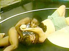 Ebony Raquel-Small Package Annilates Bob in wrestling
