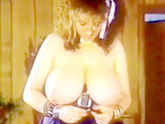 80s Busty Pinups Lisa and Dev Trying on Bras