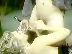 DIrty slut Carol eats ass and drinks cum
