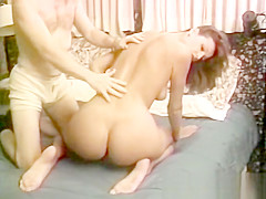 Retro facial fun for doggystyled amateur