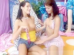 Very tiny teenie lesbian xxx Hot killer buddies playing with a vibrator