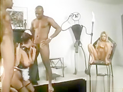 Latex girl fucked by big black cocks
