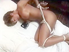 older woman tied and gagged