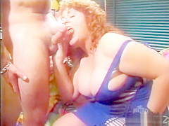 Redhead mature Bbw Jenny joyce fucks and sucks younger guy