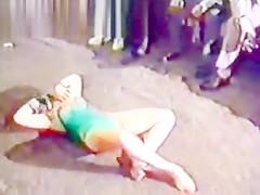 Girls Dancing Naked in London Vintage