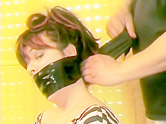 tape gagged girl