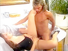 Babe has fun with a big cock