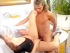 Babe has fun with a big cock