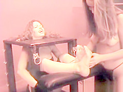 Priscilla foot tickled