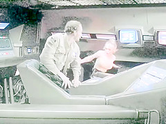 Galaxy Of Terror All Scenes of the Lady who was attacked by Giant Worm