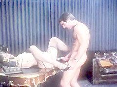 Harry Reems fucks Tamara Longley at the office - Vintage Classic Porn
