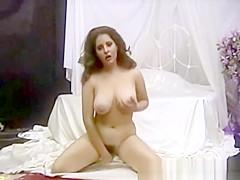 Busty amateur Jonee masturbates her hairy pussy