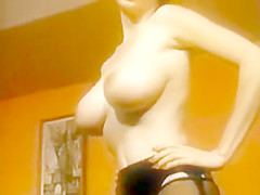 She's a Lady - Vintage Nylons Striptease Stockings Porn
