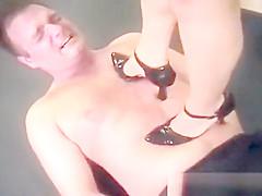 Vintage mistress dominating slave