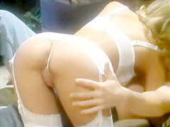 Who is this Retro Babe in White Lingerie