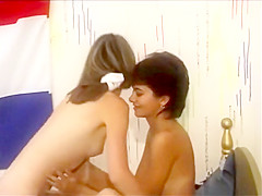 Young lesbians play with each other