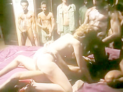 blonde milf gangbang by troop