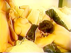 Vintage clip blonde milf with hugh tits fucks 2 guys