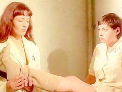 Ilsa, the Wicked Warden Movie Scene (Femdom, Bootlicking, Toilet Slave)