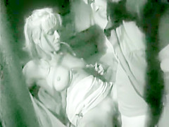 Blonde Wife cheats while Husband waits