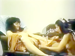 Chair Retro Lesbian Shared Dildo.flv