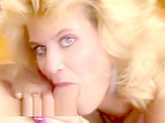 Ginger Lynn fucks Tom Byron cum shot