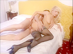 Lea Martini Anal in black stockings
