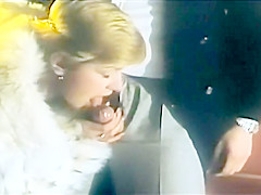 Carole Pierac fucked in fur coat