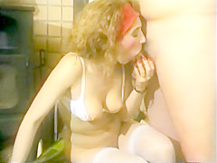 German dude fucks girl while his wife watches