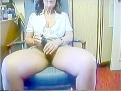 Vintage german mature masturbating.
