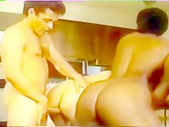 Vintage Big Tit Threesome with Black and Latina Mammas