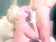Softcore posing and deep blowjob
