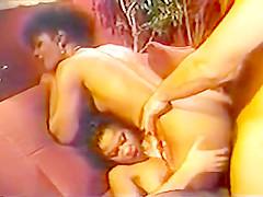 Classic Ebony Threesome