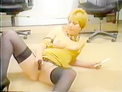 Masturbation Show in German Office