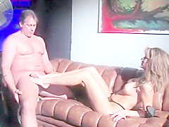 Hank Armstrong and Coral Sands hot scene from Foot Fetish Fantasies