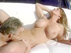 Holly Body Babewatch fucked on a boat