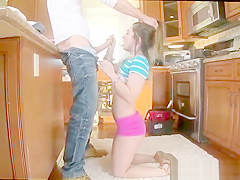 Leah's blonde teen rides black dick and tattooed pierced vintage