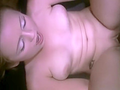 Tiny blonde gets pounded by a big fat cock in a sex swing